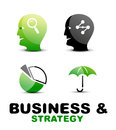Modern business and strategy icon set vector Stock Photography