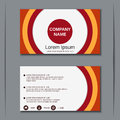 Modern business visiting card design template Royalty Free Stock Photo