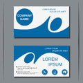 Modern business visiting card vector template Royalty Free Stock Photo