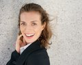 Modern business woman executive smiling Royalty Free Stock Photo
