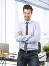 Modern businessman portrait standing in his office Royalty Free Stock Photography