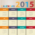 Modern calendar in red color paper style vector illustration Stock Images