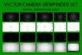 Modern camera focusing screen with settings 20 in 1 pack - digital, mirorless, DSLR