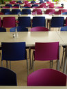 Modern canteen furniture photo of Stock Photo