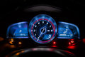 Modern car instrument dashboard panel or speedometer Royalty Free Stock Photo