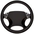 Modern car steering wheel
