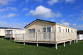 Modern caravans in trailer park resort england Stock Photos
