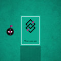 Modern card template with mystic symbols and wacky colors