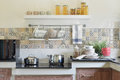 Modern ceramic kitchenware and utensils Royalty Free Stock Photo