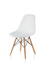 Modern chair with wooden legs Royalty Free Stock Photo