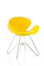 Modern chair yellow isolated over white background Royalty Free Stock Image