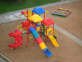 Modern children's play area Stock Photography