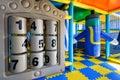 Modern children`s playground indoor Royalty Free Stock Photo
