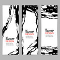 Modern chinese ink vector banner background. Rough calligraphy template. Asian art card or flyer design Royalty Free Stock Photo