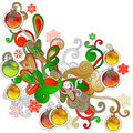 Modern Christmas design element Stock Images