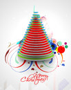 Modern christmas tree background eps vector illustration Stock Photography