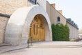 Modern church entrance of an in poznan poland Royalty Free Stock Photo