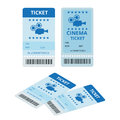 Modern cinema tickets on write background. Entertainment Tickets. Icon for online booking of tickets. Modern