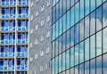 Modern city buildings background Royalty Free Stock Photos