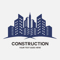 Modern city Buildings construction Royalty Free Stock Photo