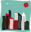 Modern city buildings vector illustration Stock Image