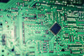 Modern city diorama and electric circuit board, digital transformation Royalty Free Stock Photo