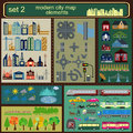 Modern city map elements for generating your own infographics m maps vector illustration Stock Image