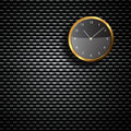 Modern Clock on the textured wall Royalty Free Stock Photo