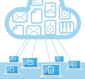 Modern cloud technology Royalty Free Stock Photo