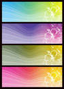 Modern  color banners, vector Stock Photography