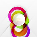 Modern colorful abstract circles
