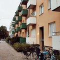 Modern colorful appartment in malmo, sweden Royalty Free Stock Photo
