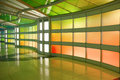 Modern colorful architectural tunnel Royalty Free Stock Photo