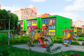 Modern and Colorful Kindergarten School Building Royalty Free Stock Photo