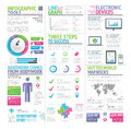 Modern colorful set of infographic elements vector collection style Royalty Free Stock Images