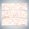 Modern colorful set of vector banners for your Royalty Free Stock Photo