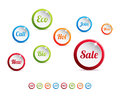 Modern and colorful web buttons Stock Photo