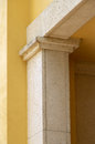 Modern column architectural detail Royalty Free Stock Photo