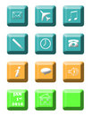 Modern communication icons Stock Photos