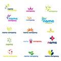 Modern company logos