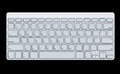 Modern computer keyboard isolated on black background Royalty Free Stock Photography