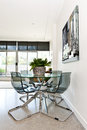 Modern condo dining room Royalty Free Stock Photo