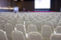 modern conference hall interior with white chairs. seminar room Royalty Free Stock Photo