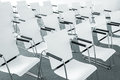 Modern conference room chairs Royalty Free Stock Photo