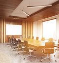 Modern conference room sideview toning