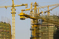 Modern Construction site close up at China Stock Photo