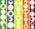 Modern contemporary abstract round circles painting large on canvas Royalty Free Stock Photos