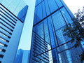 Modern corporate buildings with reflections Royalty Free Stock Photo