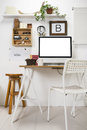 Modern creative workspace the office of a entrepreneur Royalty Free Stock Image