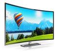 Modern curved 4K UltraHD TV